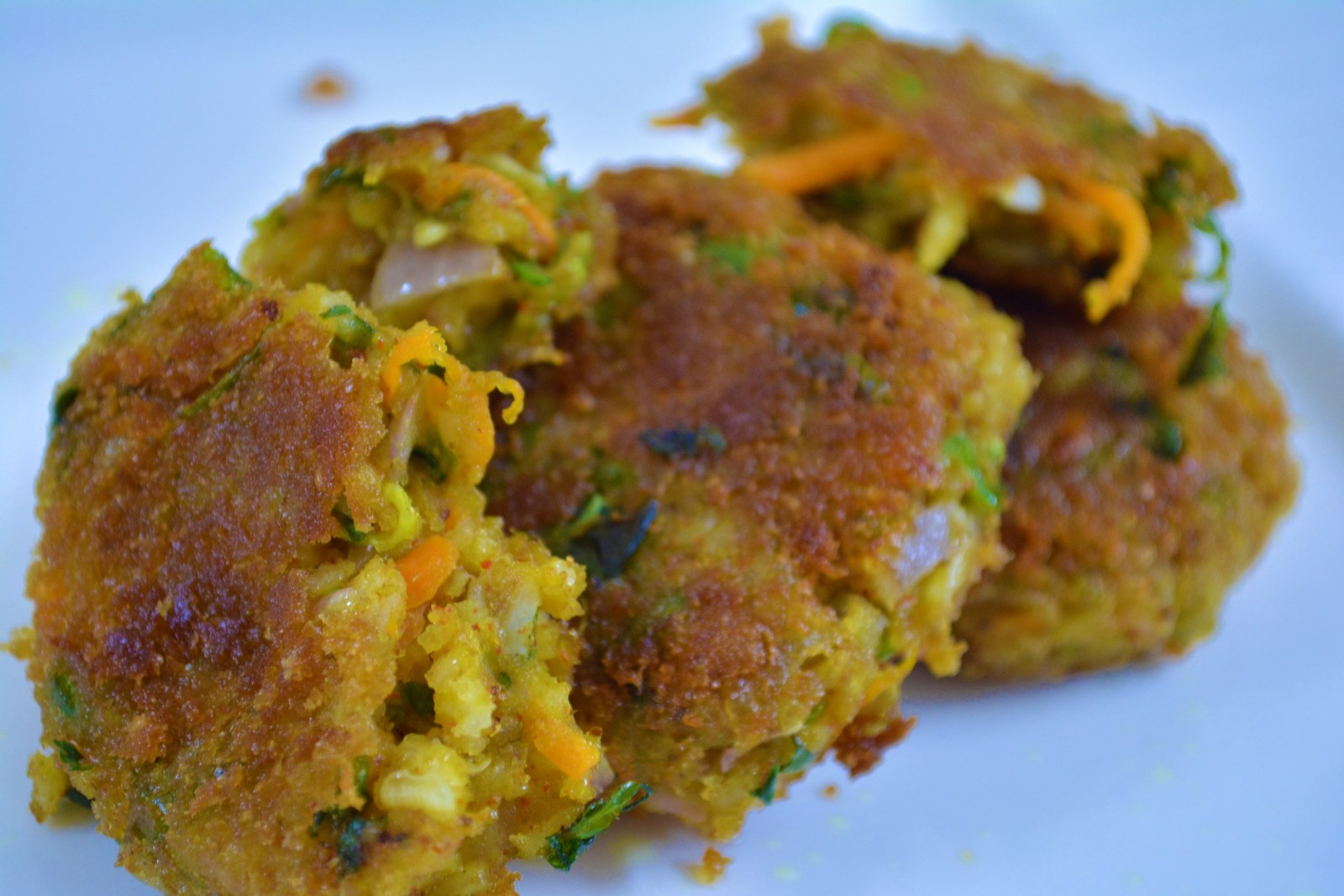 Spicy Mixed Vegetables Rice Cutlet Recipe