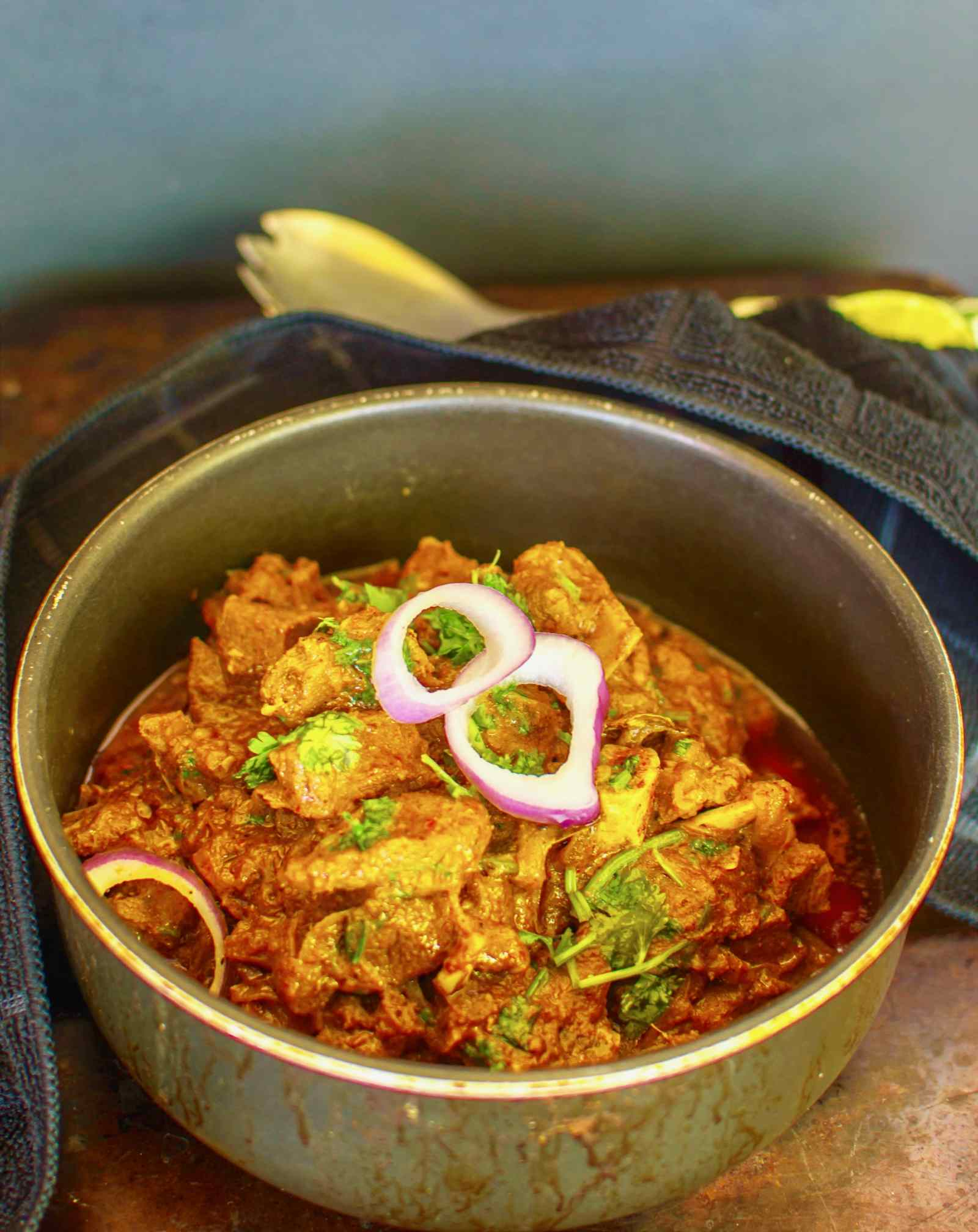 Goat Curry In Yogurt Gravy Recipe