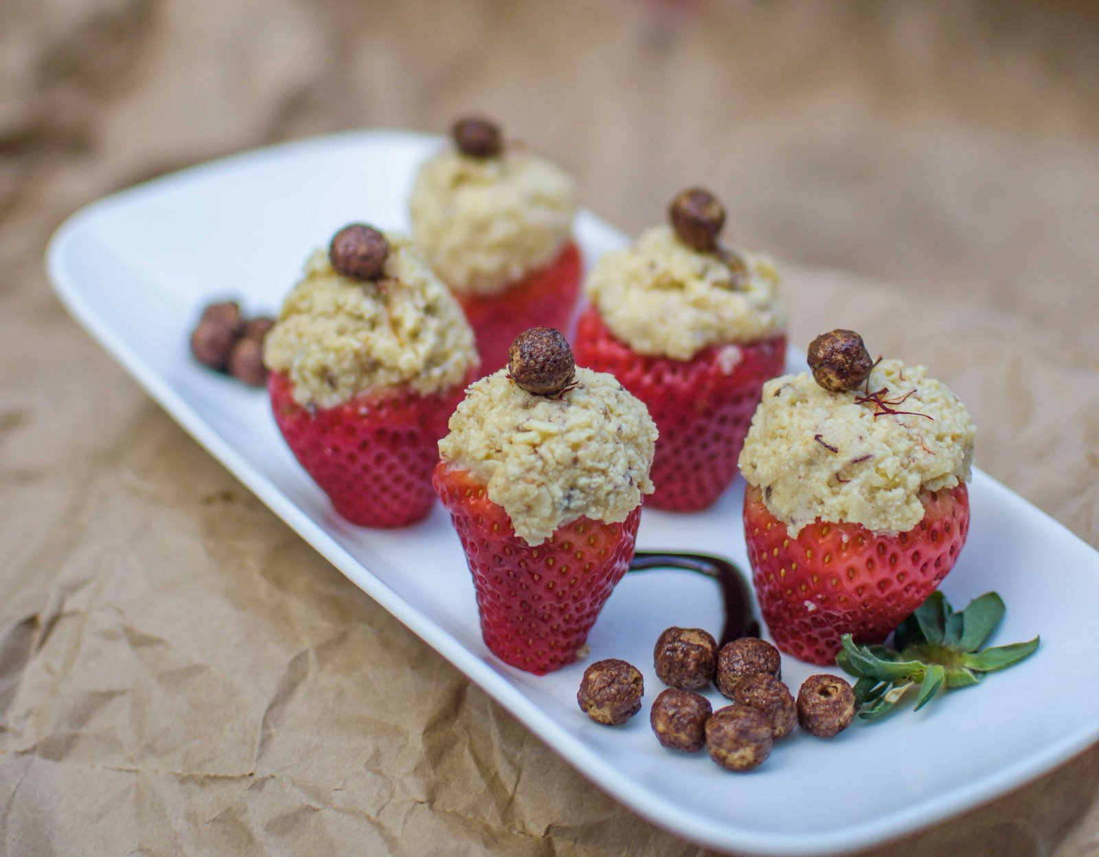 Stuffed Strawberries Recipe With Grated Paneer