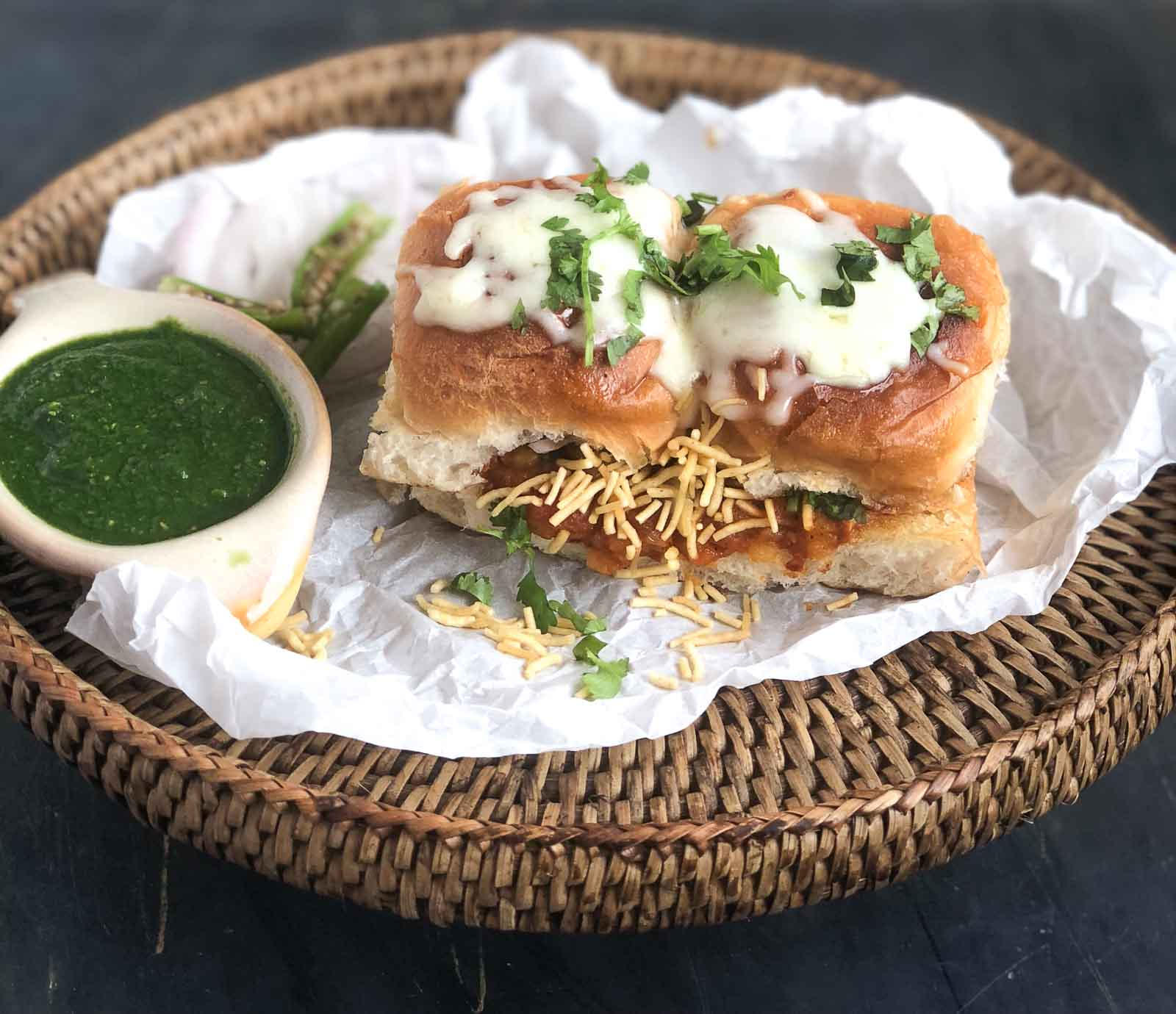 Masala Pav Recipe With Cheese