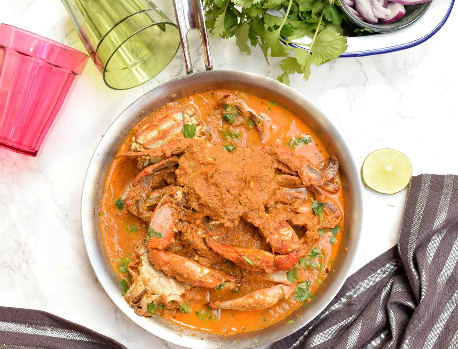 How to Make Crab Curry foto