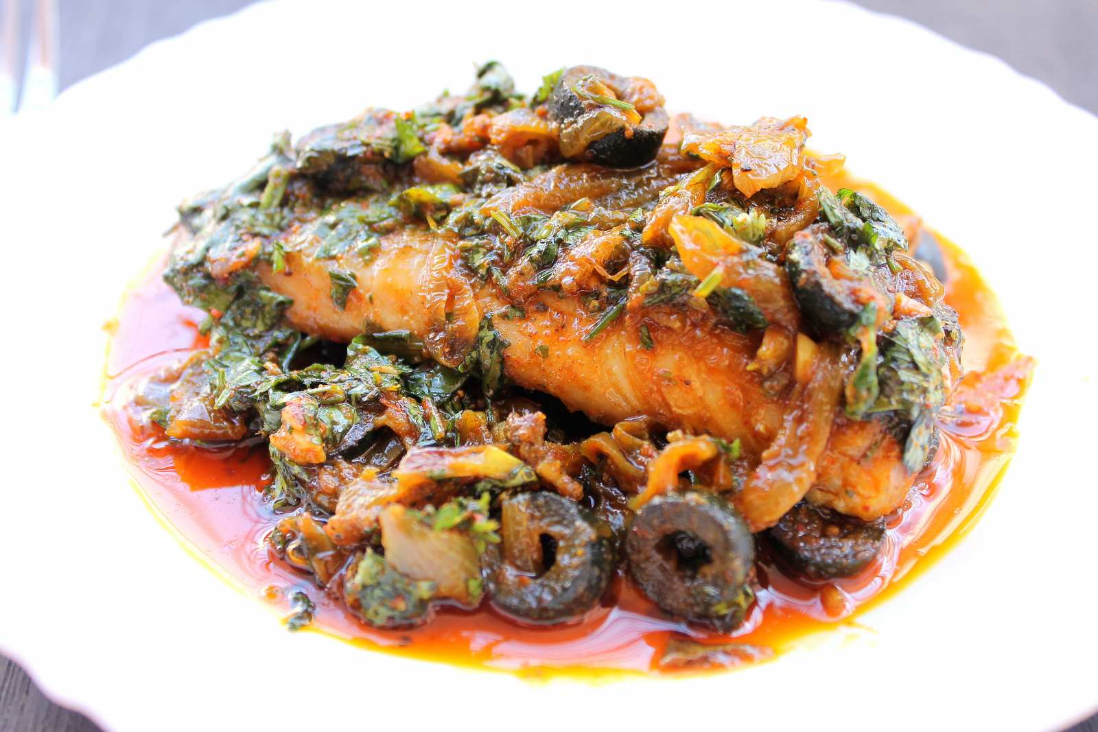Moroccan Baked Fish Recipe