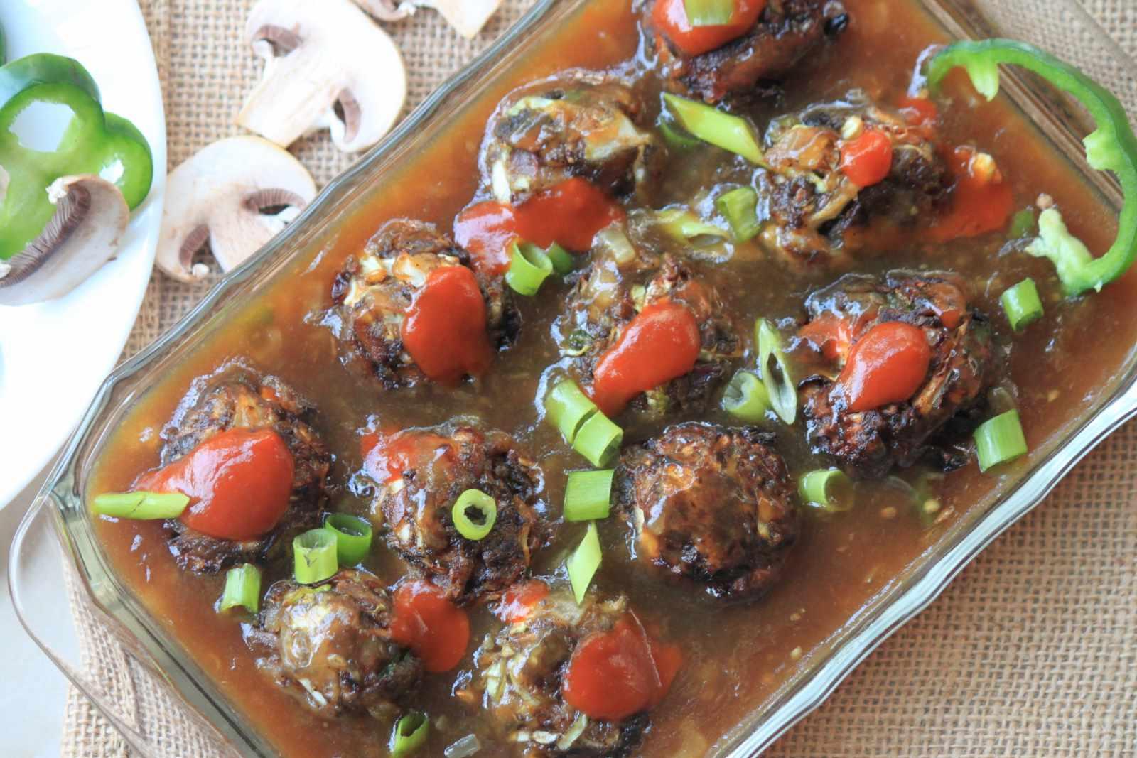 Mushroom manchurian gravy recipe by archanas kitchen mushroom manchurian gravy recipe forumfinder Image collections