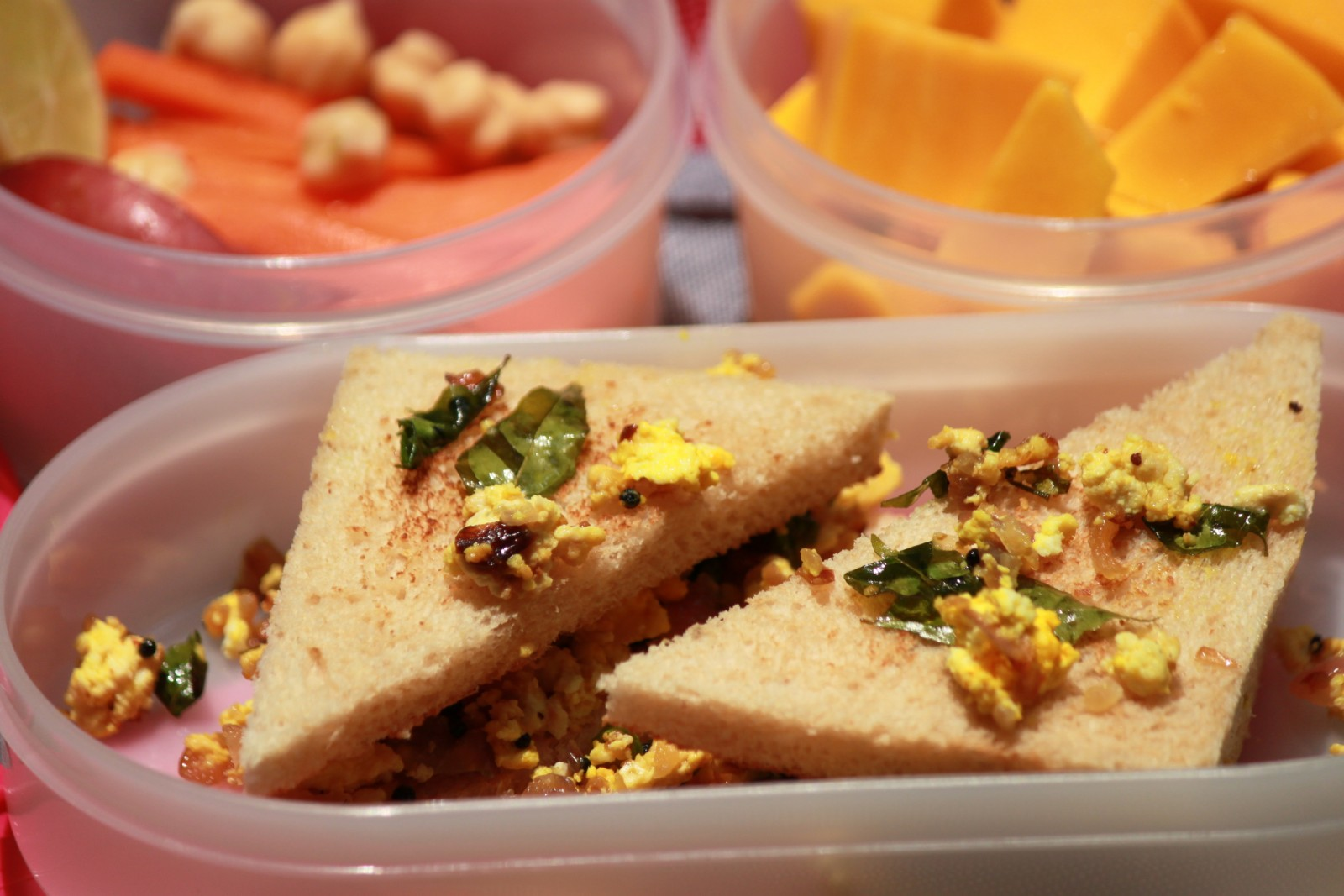 Scrambled Paneer Sandwich Recipe