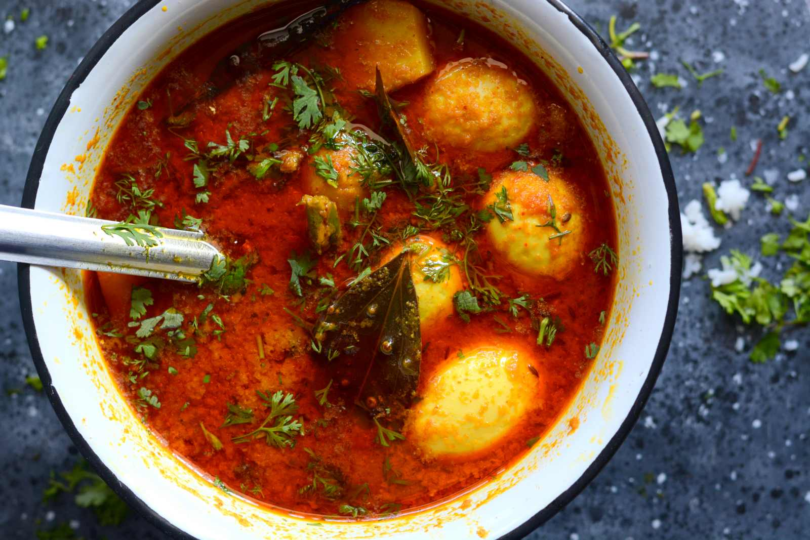 Aloo Konir Dom Recipe (Assamese Egg & Potato Curry)