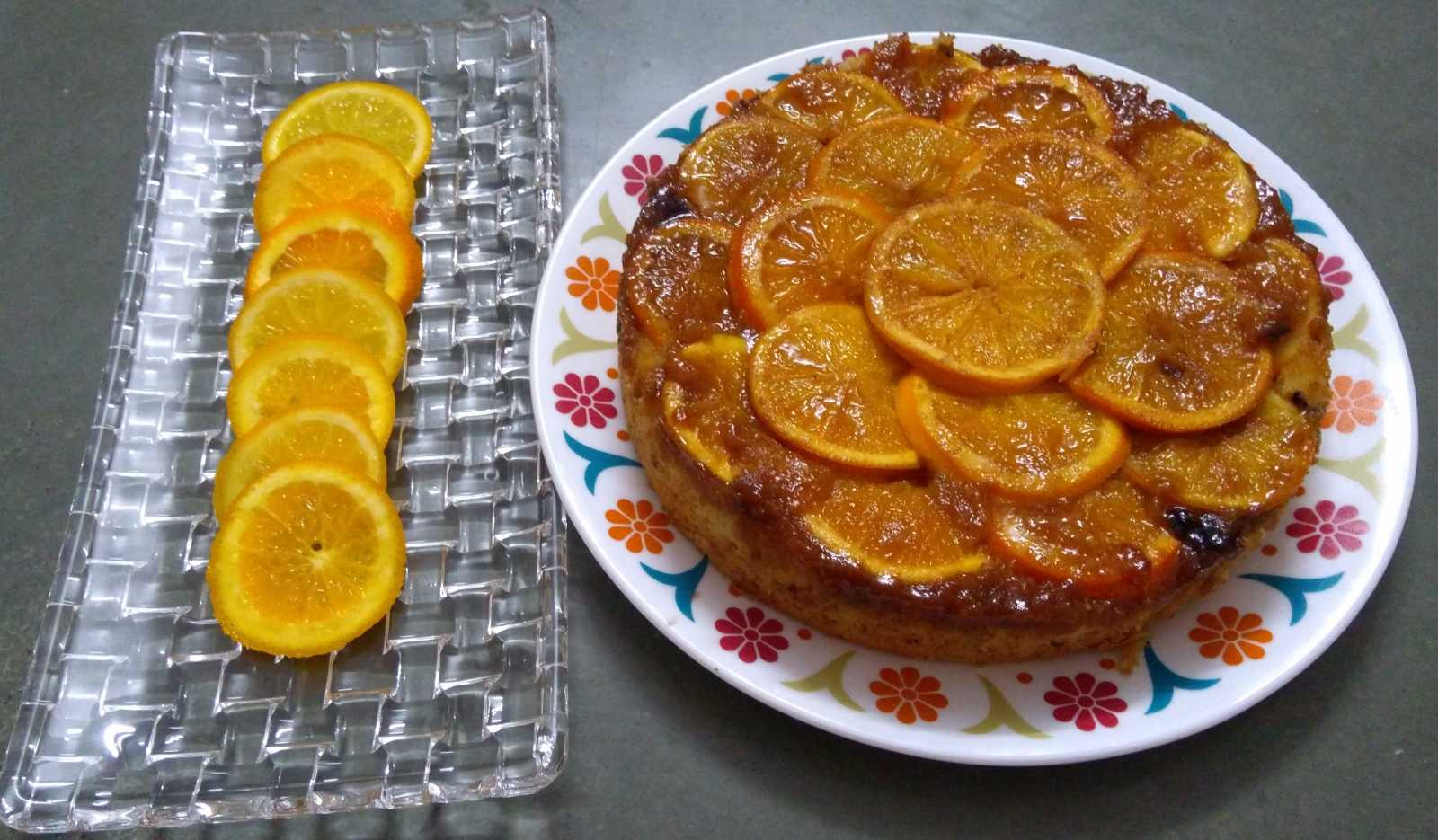 Upside Down Choco Orange Cake Recipe