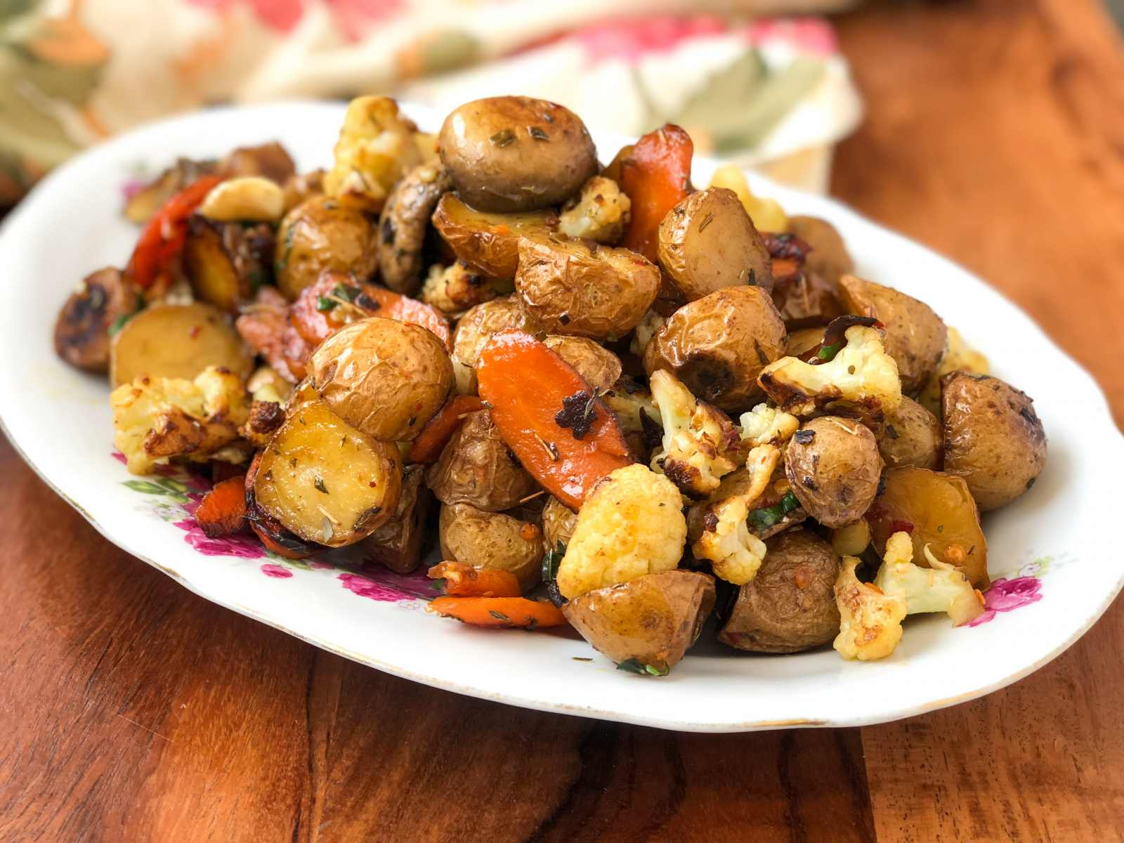 Pan Roasted Herbed Baby Potato Recipe With Vegetables