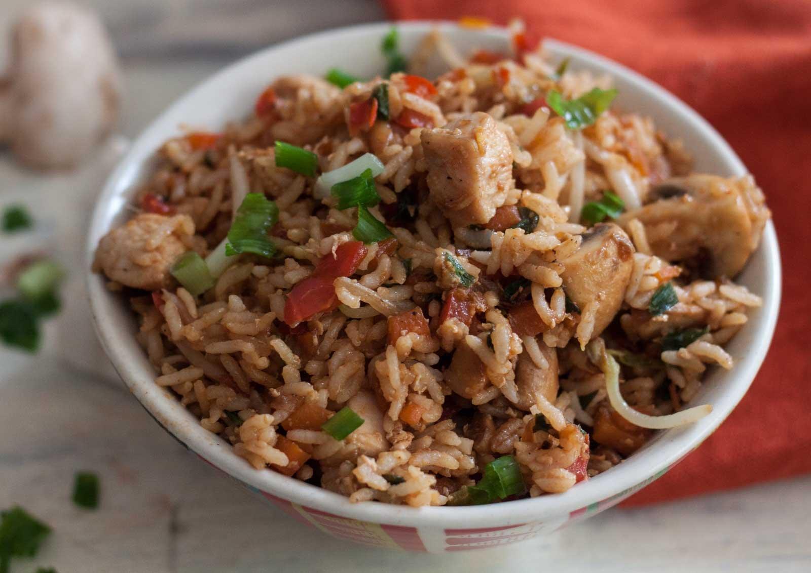 One Pot Chicken Nasi Goreng Recipe