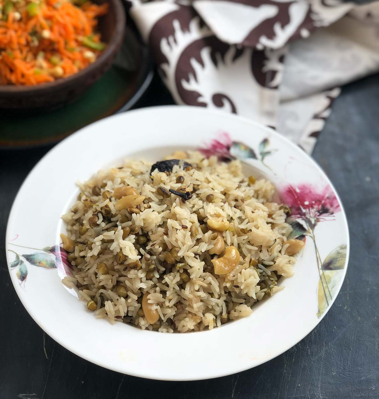 Shahjahani Khichdi Recipe - Spiced Green Moong Dal Khichdi