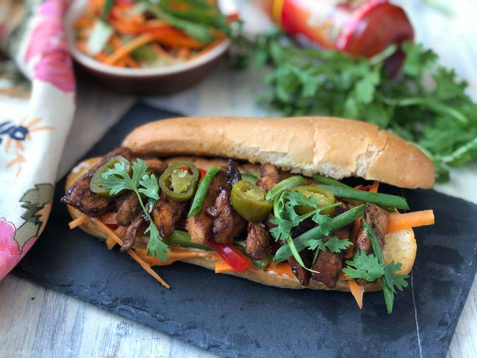 Chicken Bánh Mì Recipe - Vietnamese Grilled Chicken Sandwich