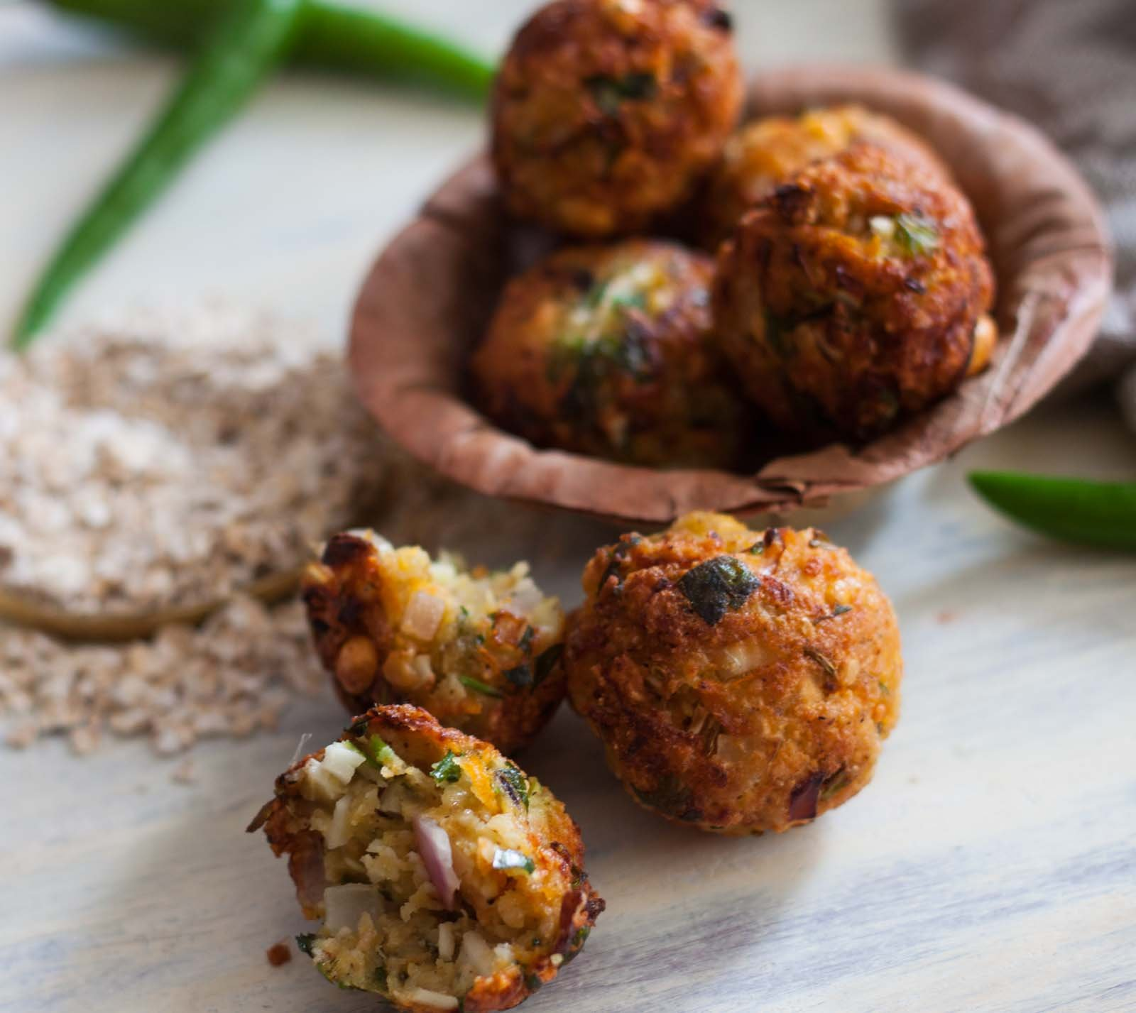 Dal Vada with Oats and Vegetable Recipe