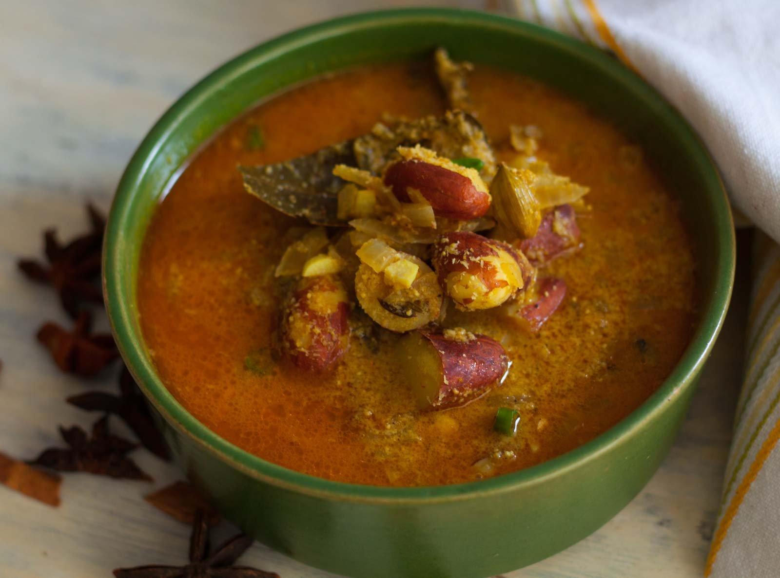 Receita de Korma de semente de jaca pela cozinha de Archana