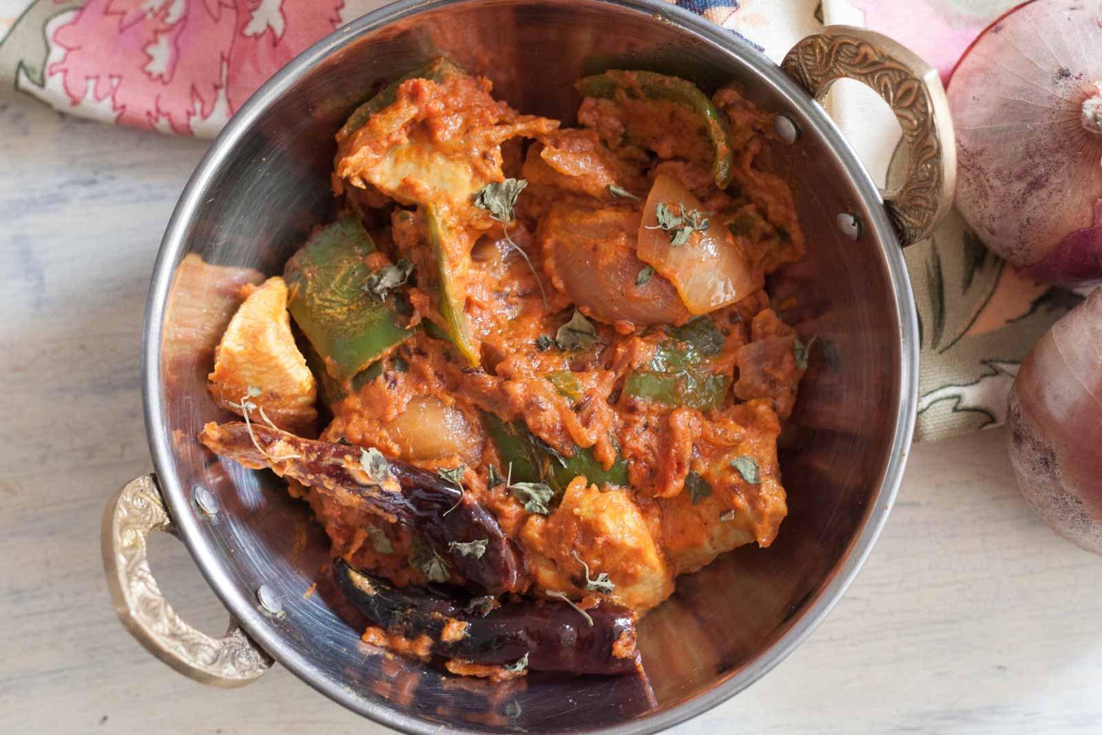 recipe: kadai chicken with capsicum recipe [10]