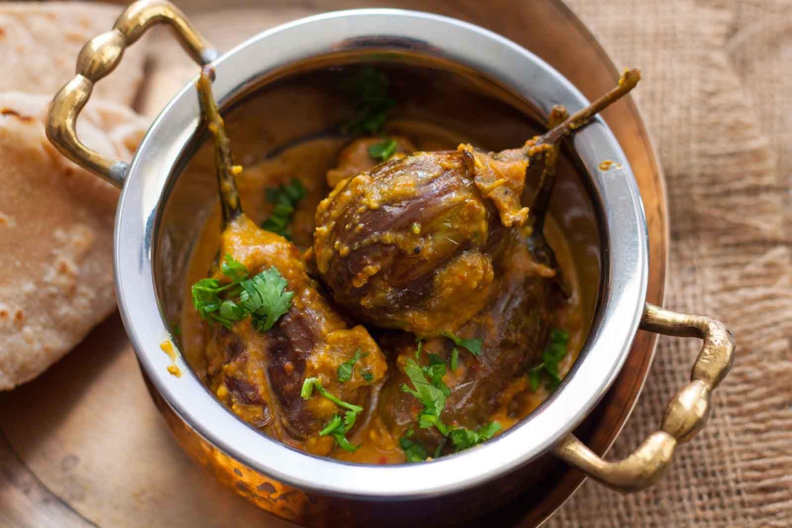 Karnataka style badanekai yennegai gojju recipe stuffed brinjal karnataka style badanekai yennegai gojju recipe stuffed brinjal recipe forumfinder Choice Image