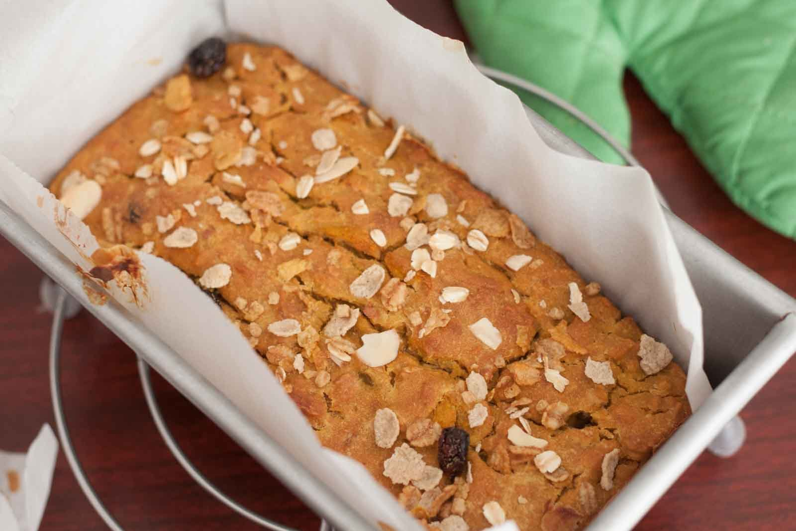 Muesli Pumpkin Bread Recipe