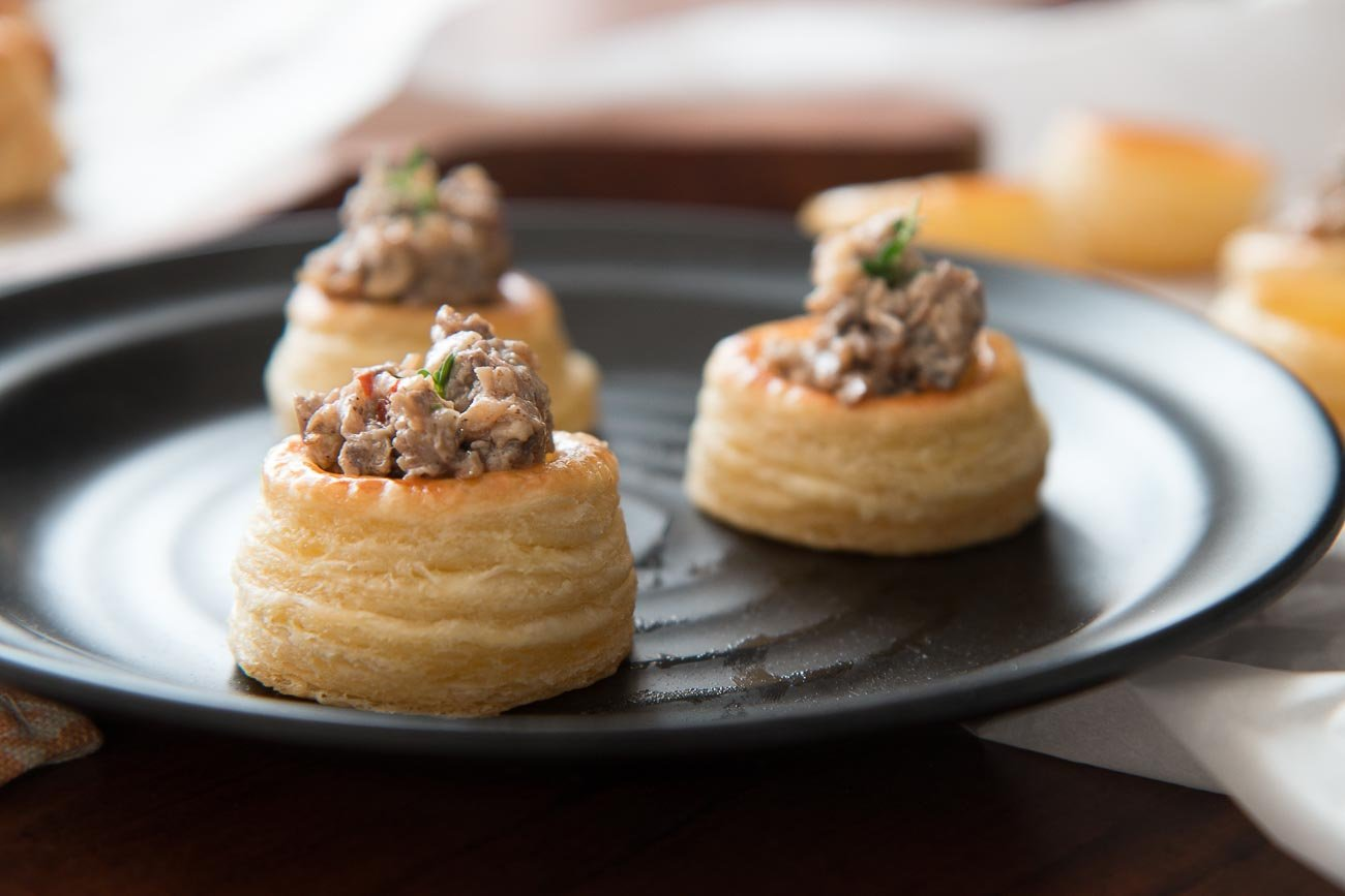 Mushroom Filled Vol Au Vent Recipe By Archanas Kitchen
