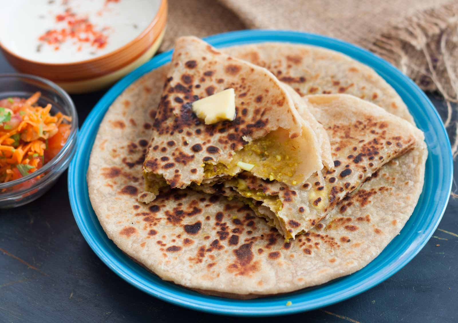 Paneer and Green Peas Paratha Recipe