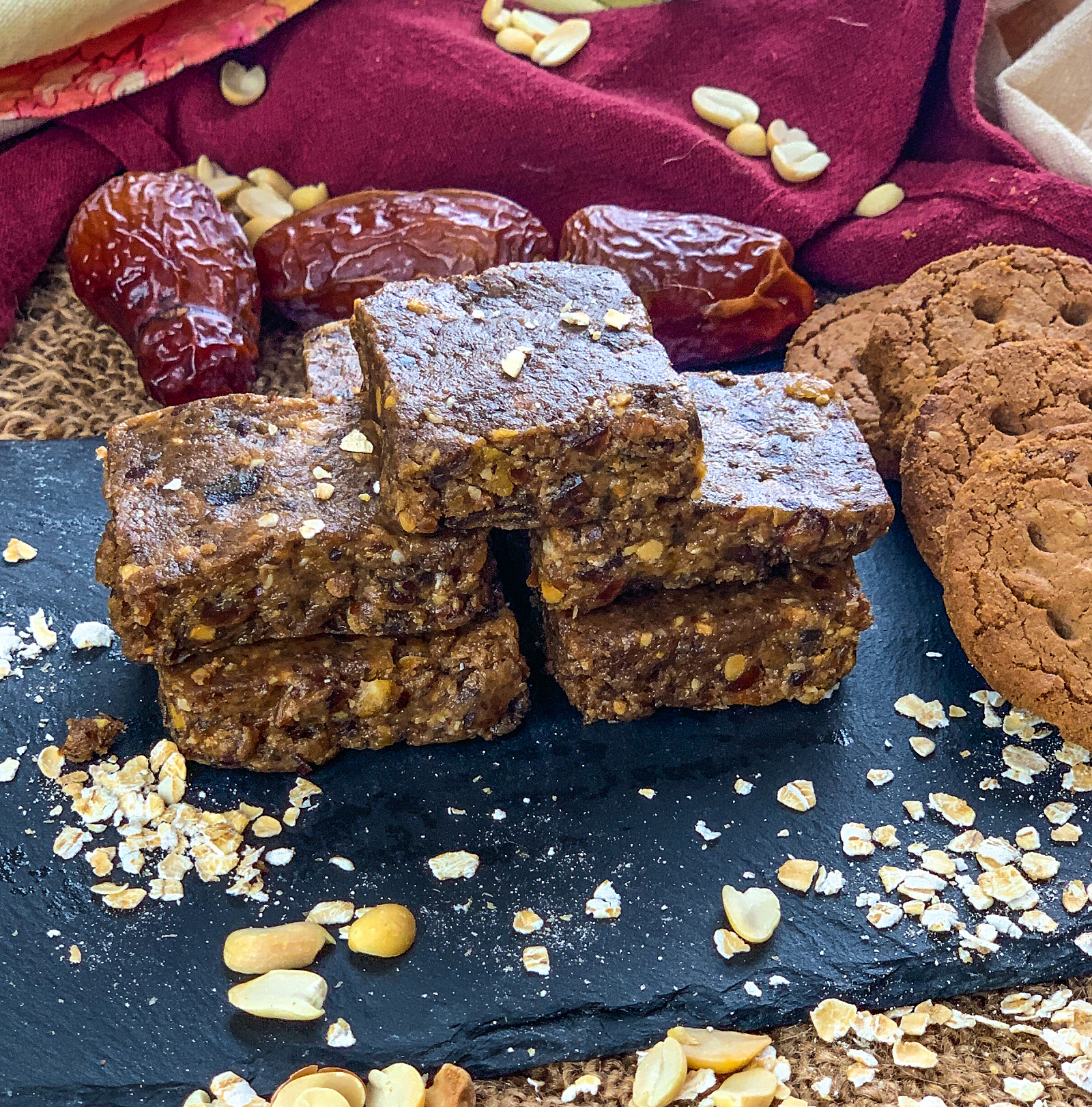 Peanut Butter Oat Almond Energy Bar Recipe
