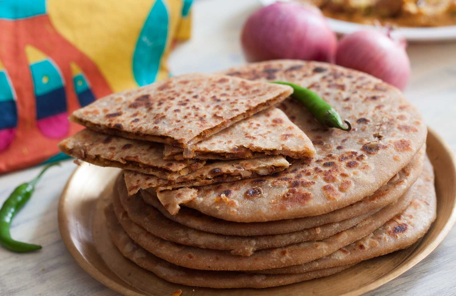 Rajma and Horse Gram Stuffed Paratha Recipe