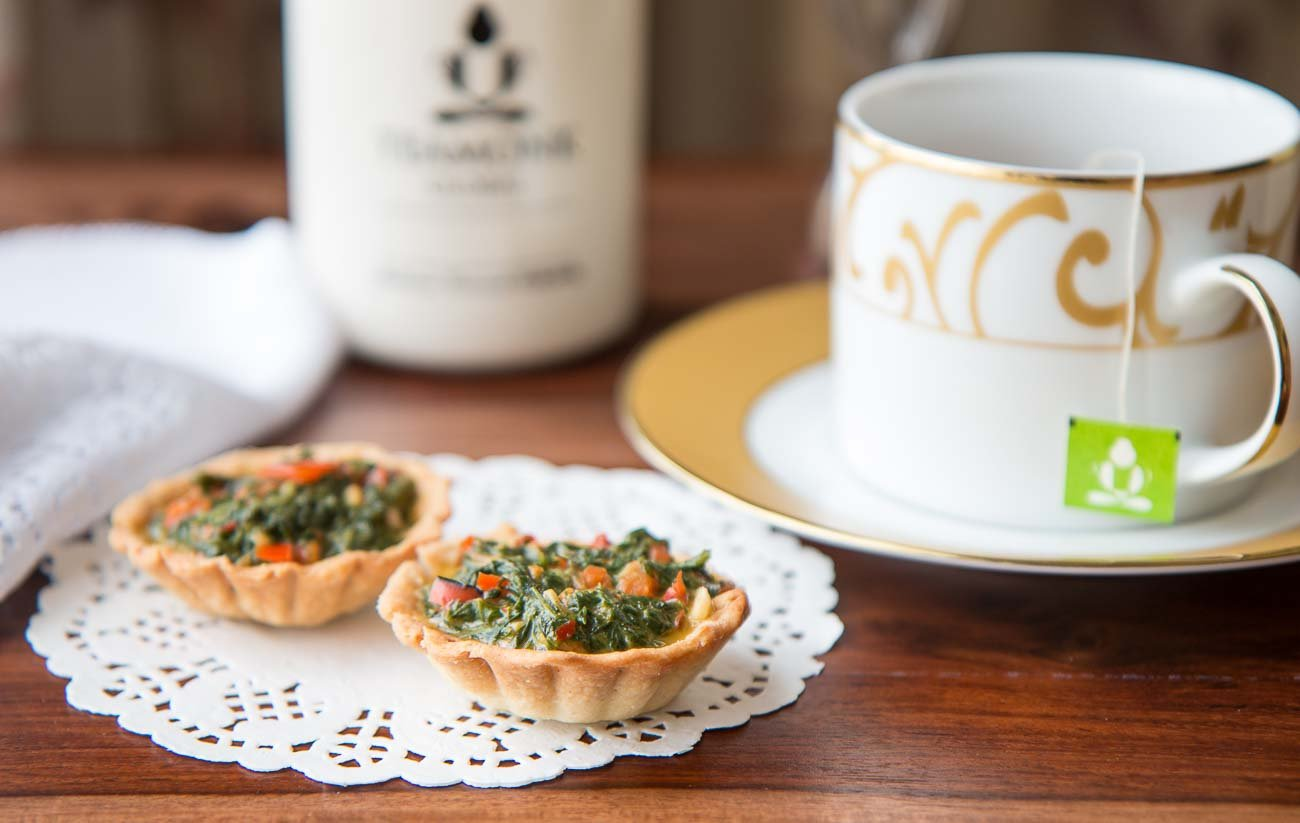 Spinach and Dill Tart With Roasted Peppers Recipe