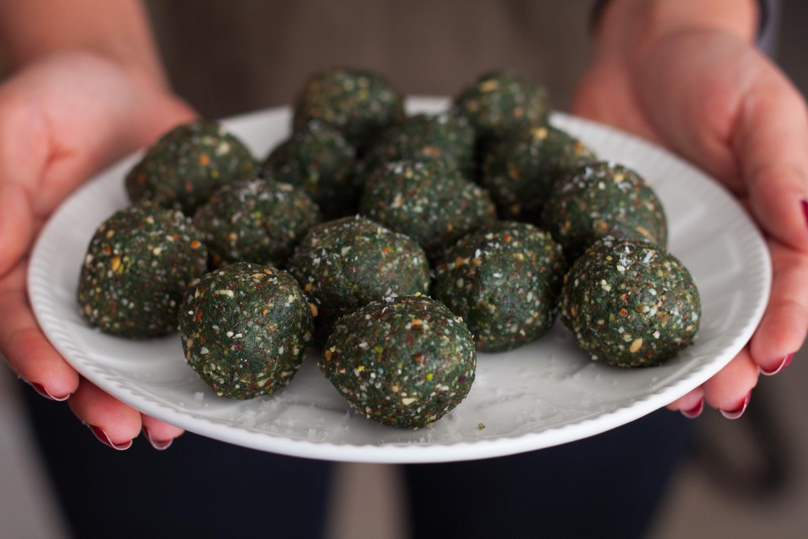 Spirulina Protein Energy Balls With Ragi Recipe By Archana