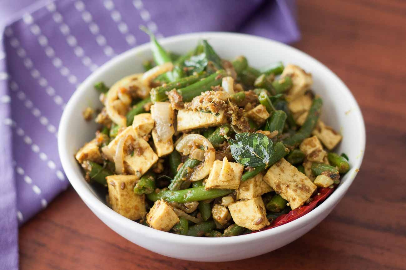 Stir Fry Green beans and Tofu with Panch Phoron Recipe