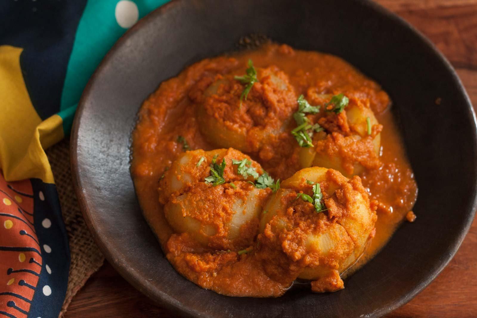 Receita Recheada de Bharwa Tinda (Cabaça de Maçã Recheada) da Archana's Kitchen