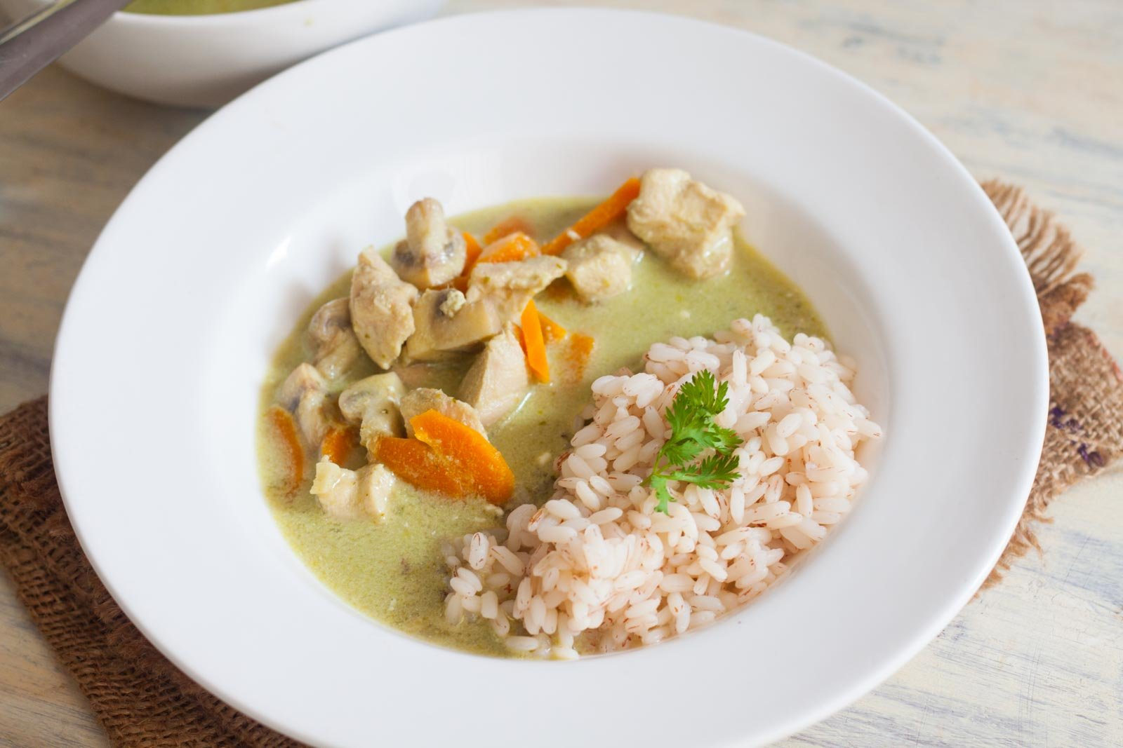 Thai Green Curry with Chicken & Red Rice Recipe