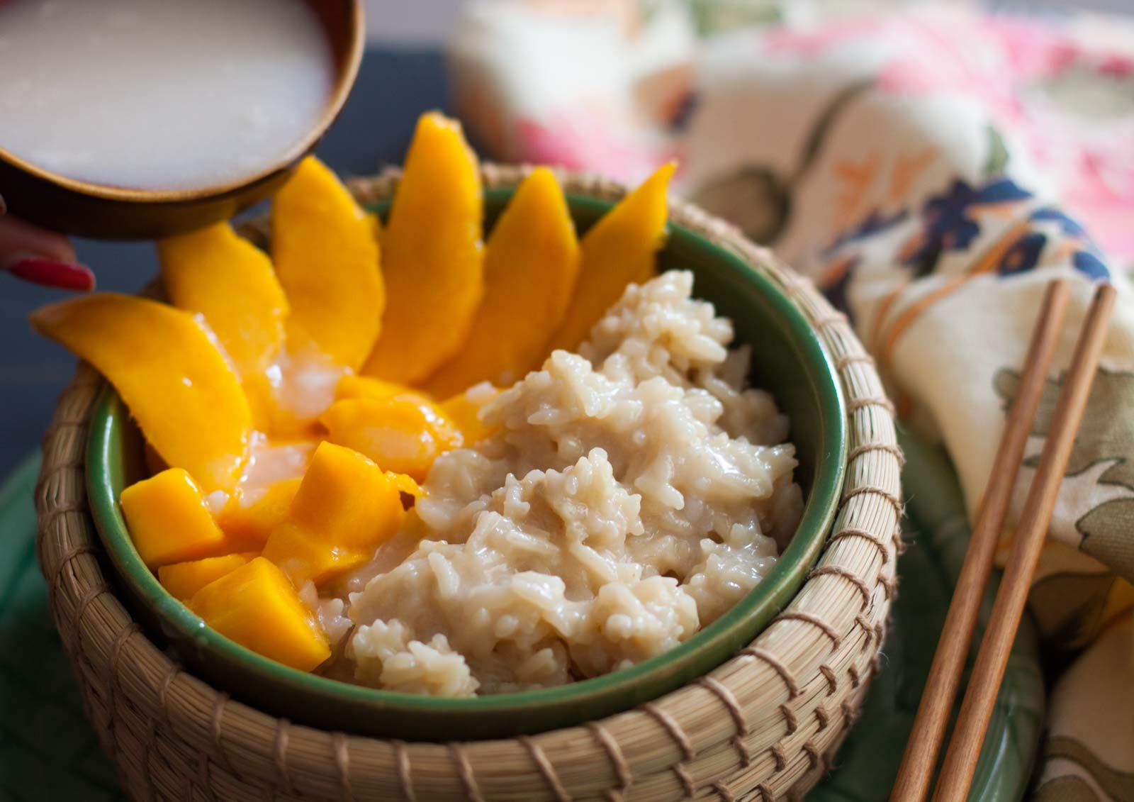 Khao Neeo Mamuang -  Thai Sweet Sticky Rice With Mango