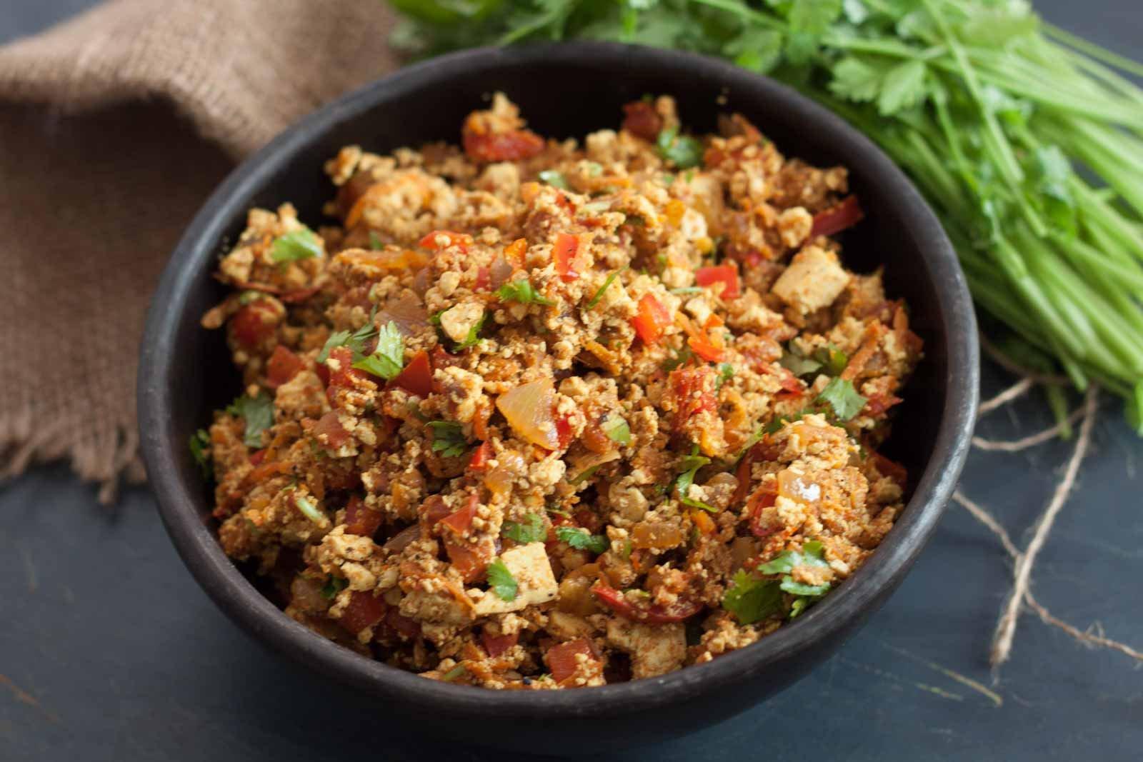 Tofu Bhurji Recipe – Spicy Scrambled Tofu