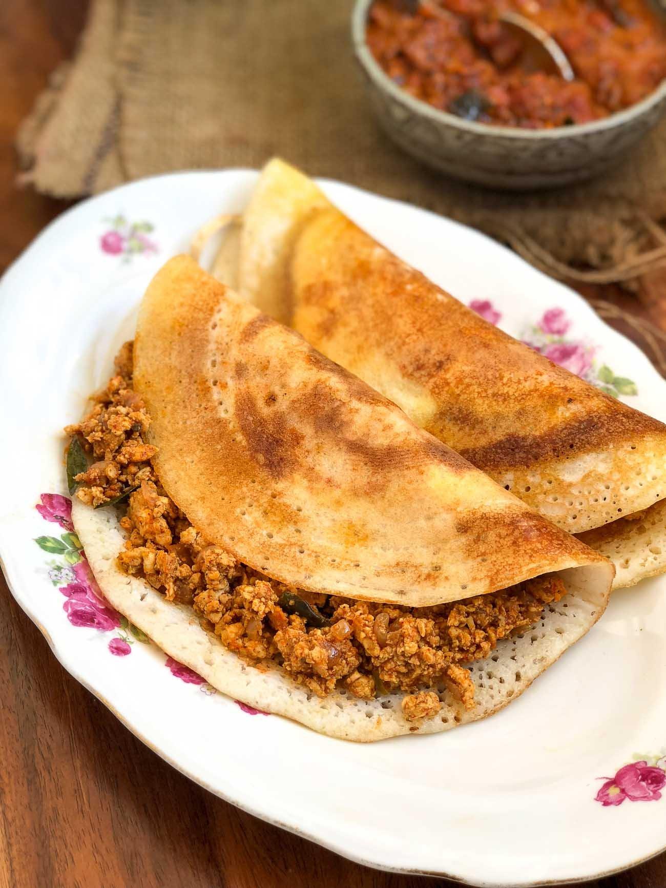 Chicken Keema Dosa Recipe – Madurai Kari Dosa Recipe