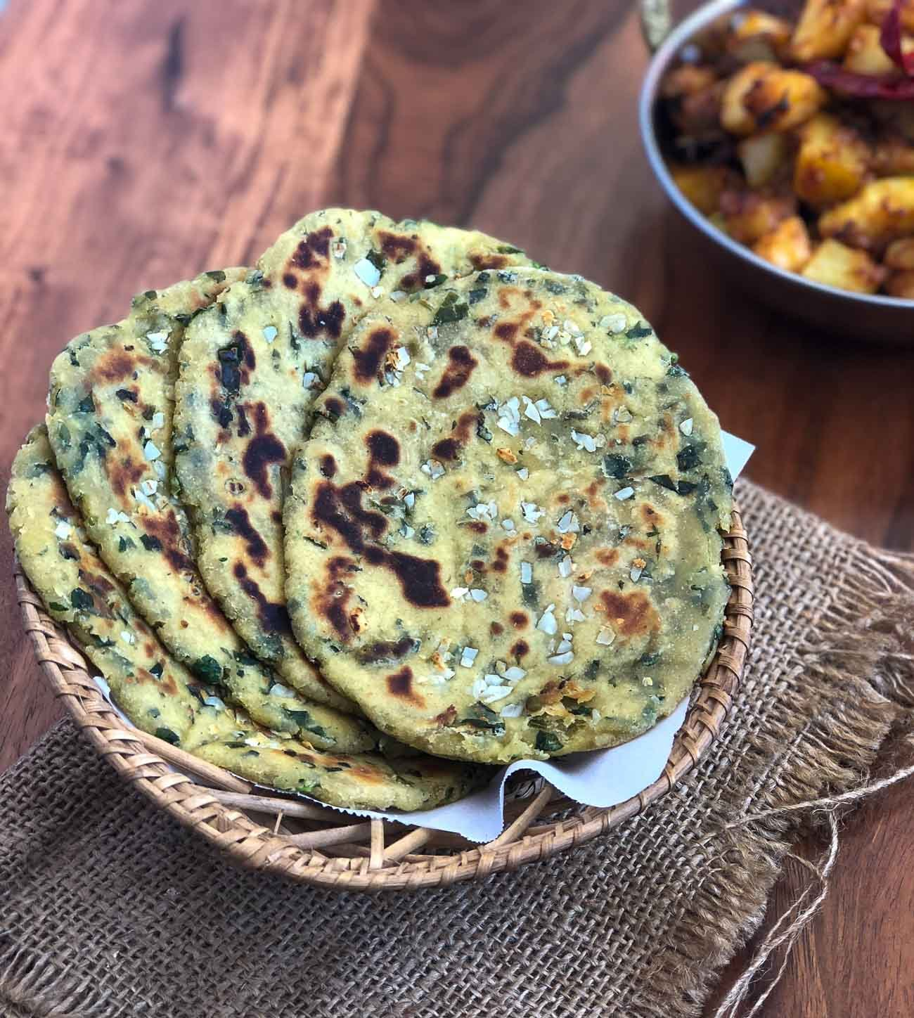 Jowar Garlic Naan Recipe- Healthy Sorghum Naan