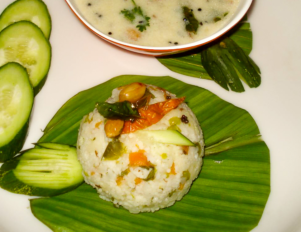 Makhana Moongphali Kadhi With Samvat Rice Recipe