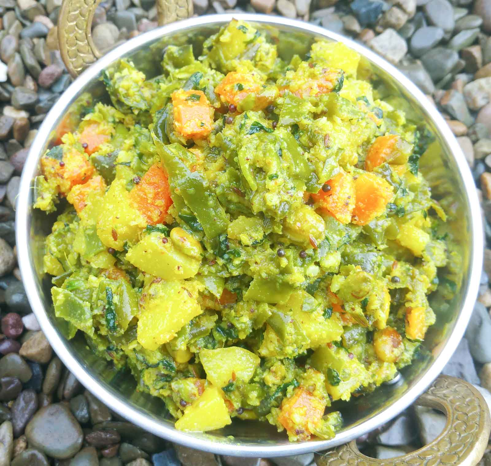 Mixed Vegetable Koora Recipe - Mixed Vegetable Poriyal
