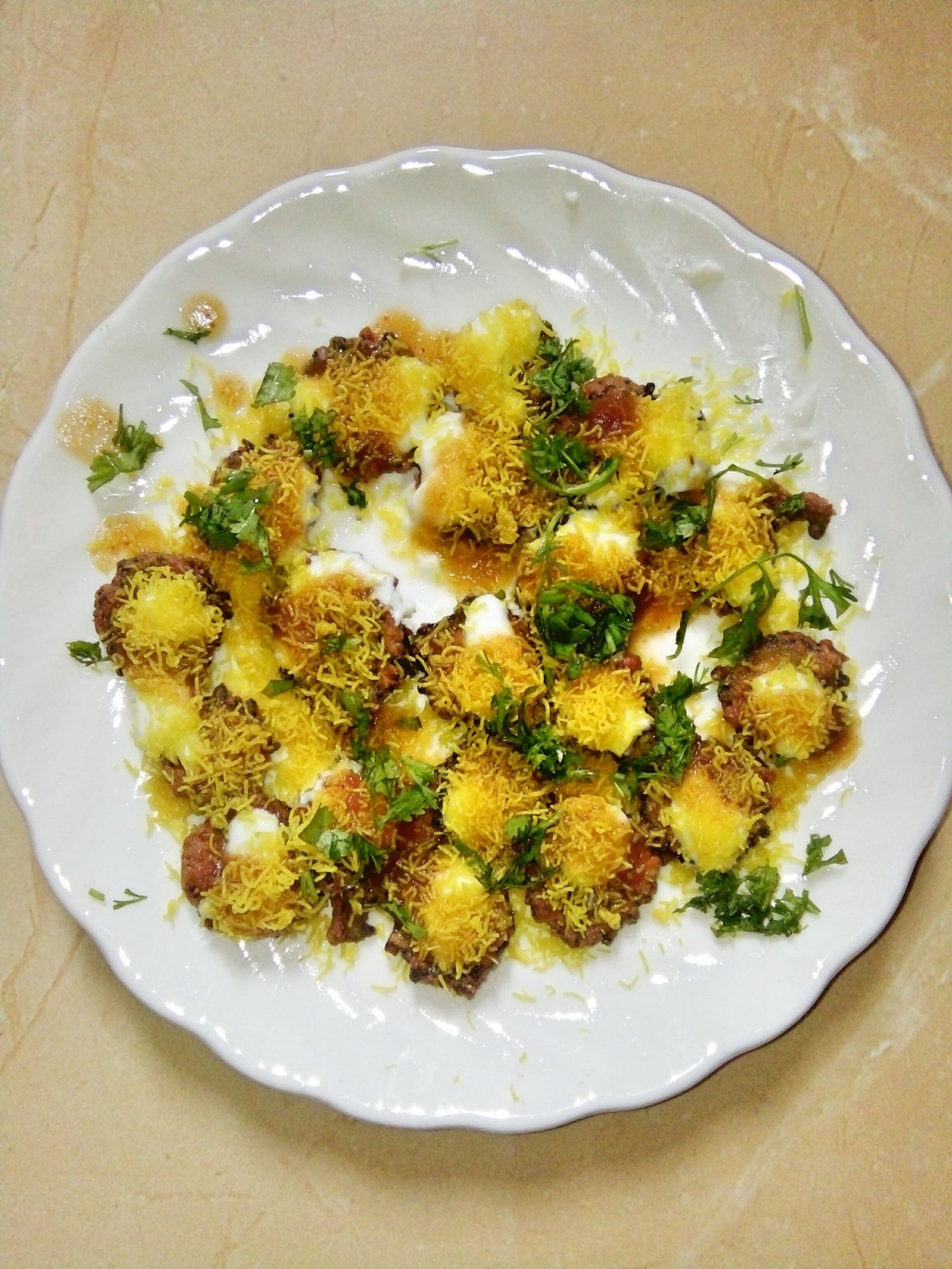 Karela Dahi Puri Recipe - A Chatpata Chaat Made From Bitter Gourd