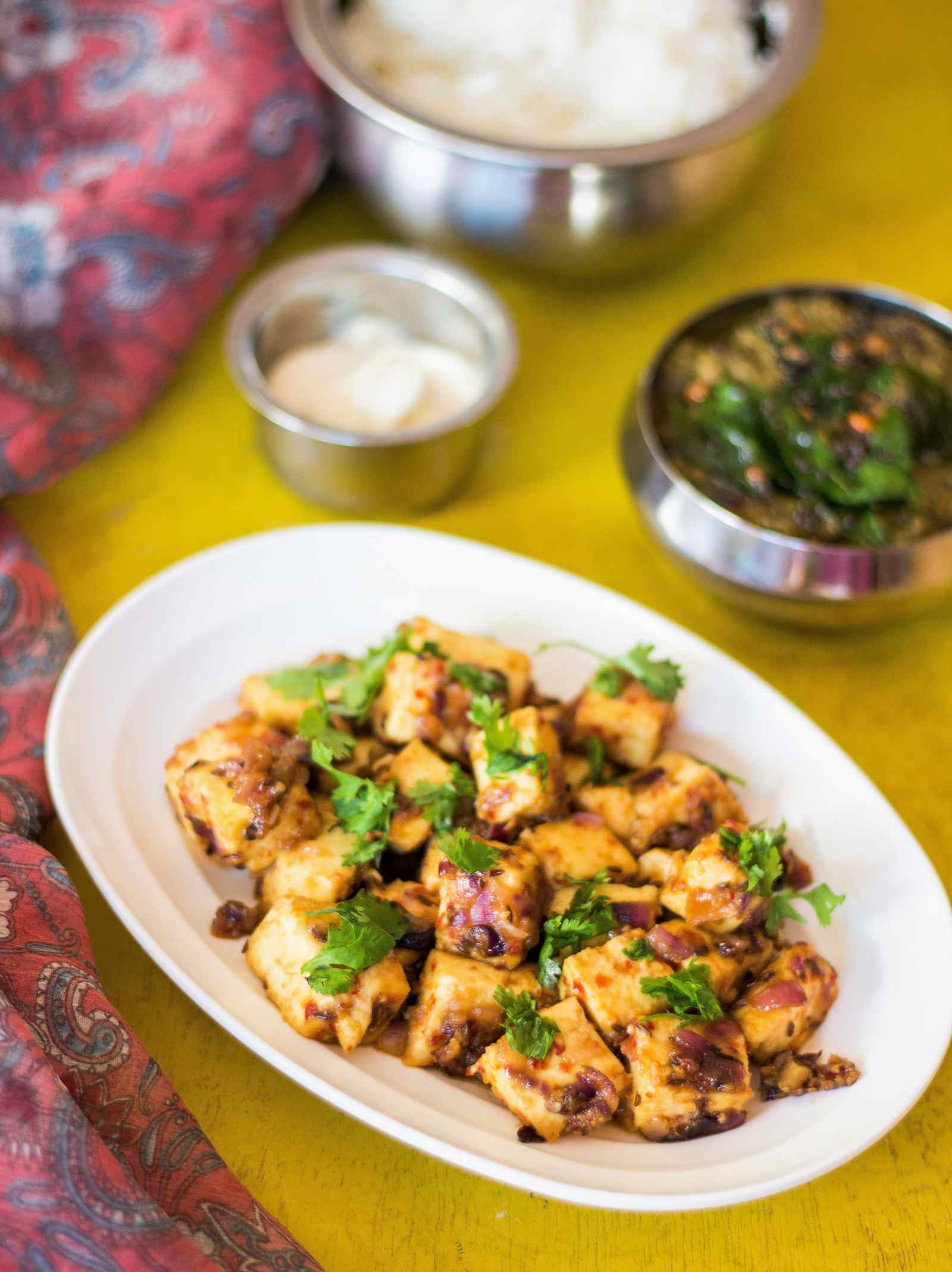Lahsuni Paneer Recipe - Paneer Flavoured With Garlic