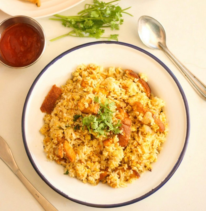 Egg and Bread Fried Rice Recipe