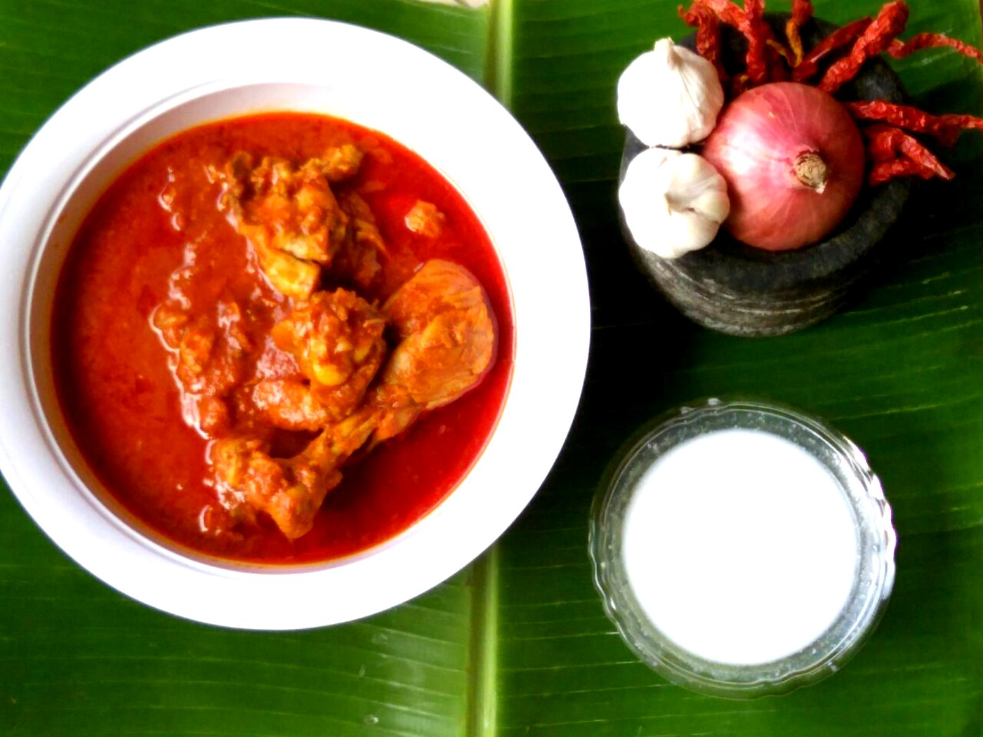 Garlic Red Chicken Gravy Recipe By Archana S Kitchen