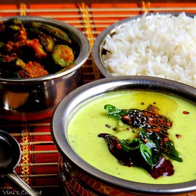 White Pumpkin Mor Kuzhambu Recipe - Kerala Style White Pumpkin Curry