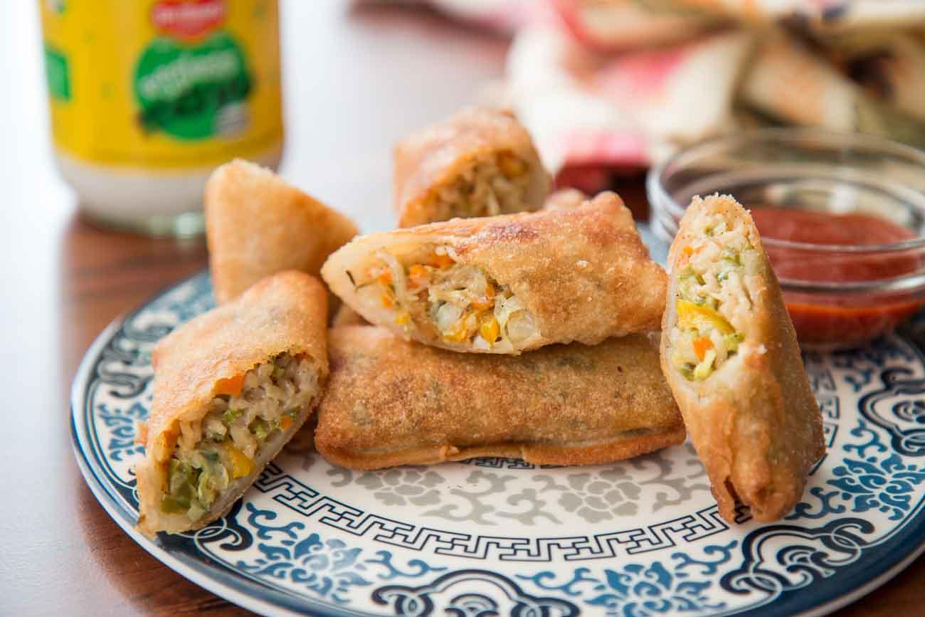 Creamy Veg Spring Roll Recipe By Archana S Kitchen