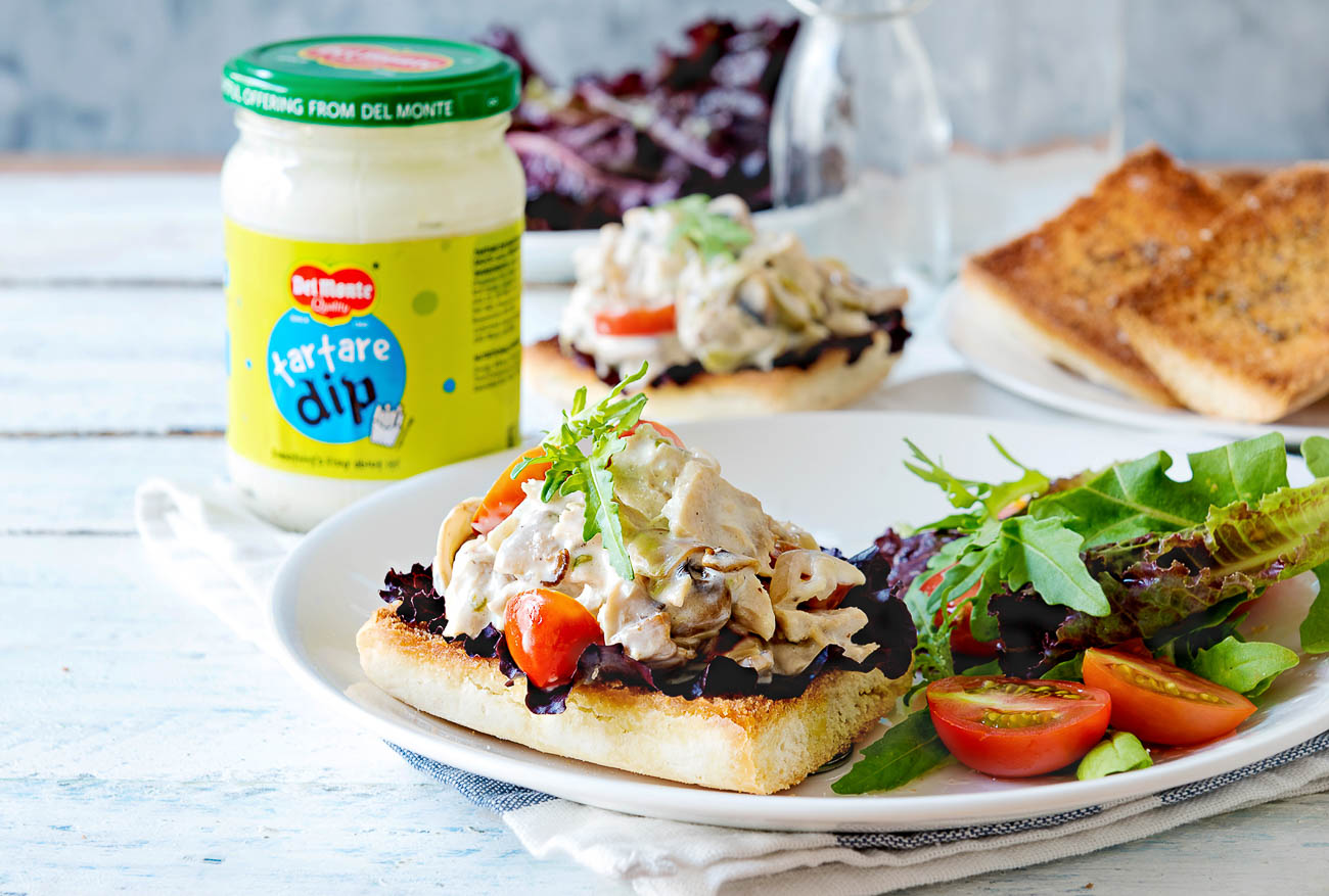 Tuna Roasted Mushroom Sandwich Recipe with Tartare Dip Mayo