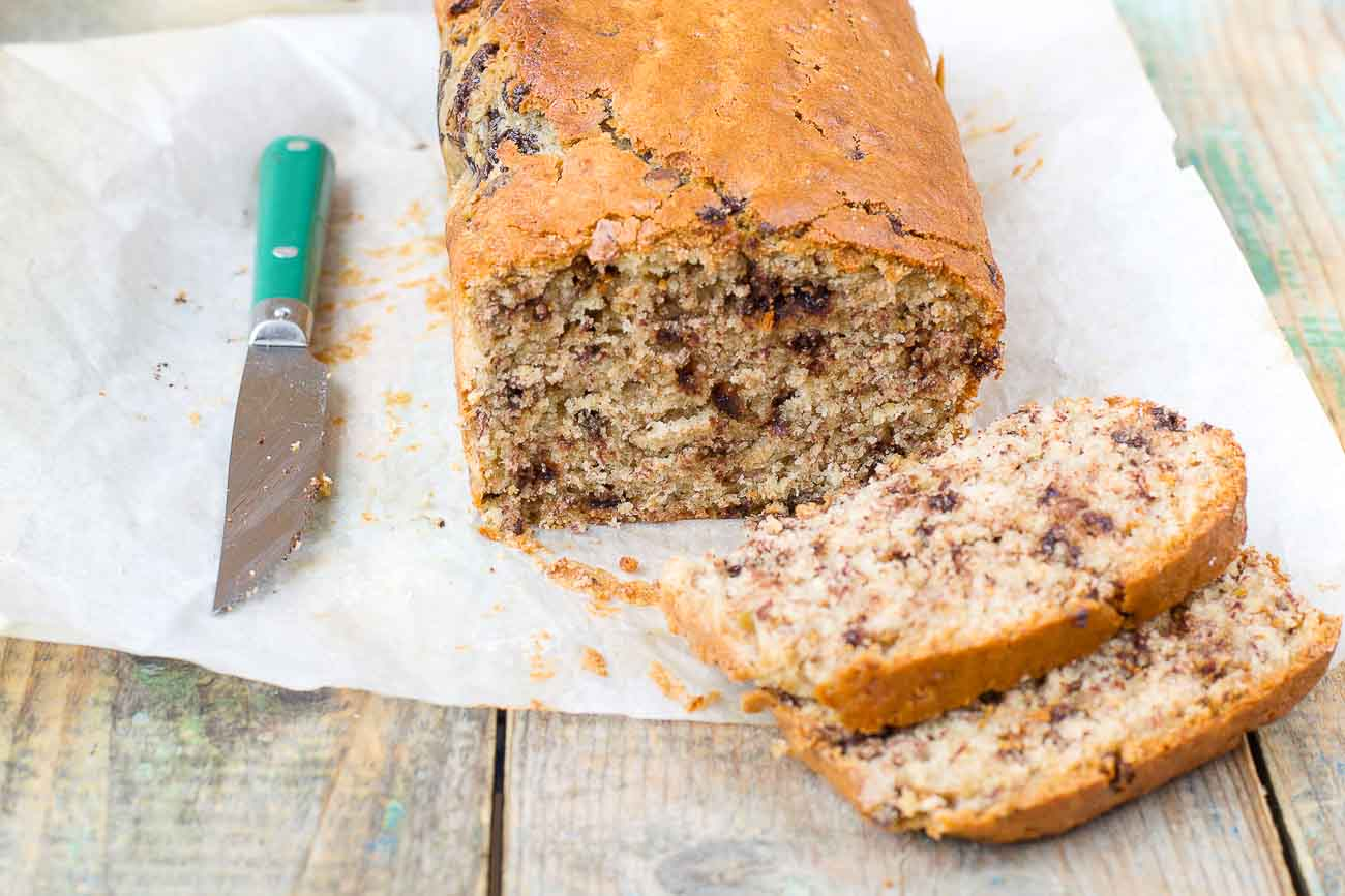 Banana, Peanut Butter And Chocolate Chunk Loaf Recipe