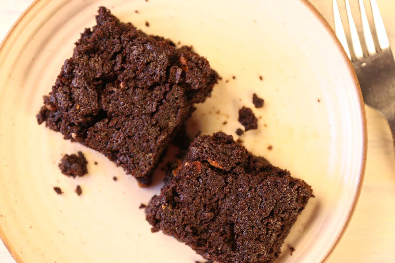 Eggless Rich Chocolate Brownies Recipe