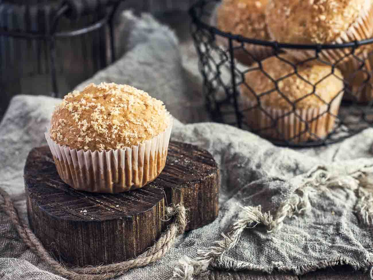 Oats and Coconut Muffins Recipe (Spiced with Chai Masala) by ...