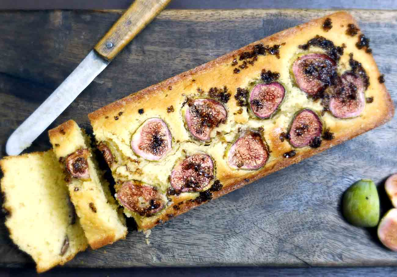 Quatre Quart Pound Cake Recipe With Fresh Figs
