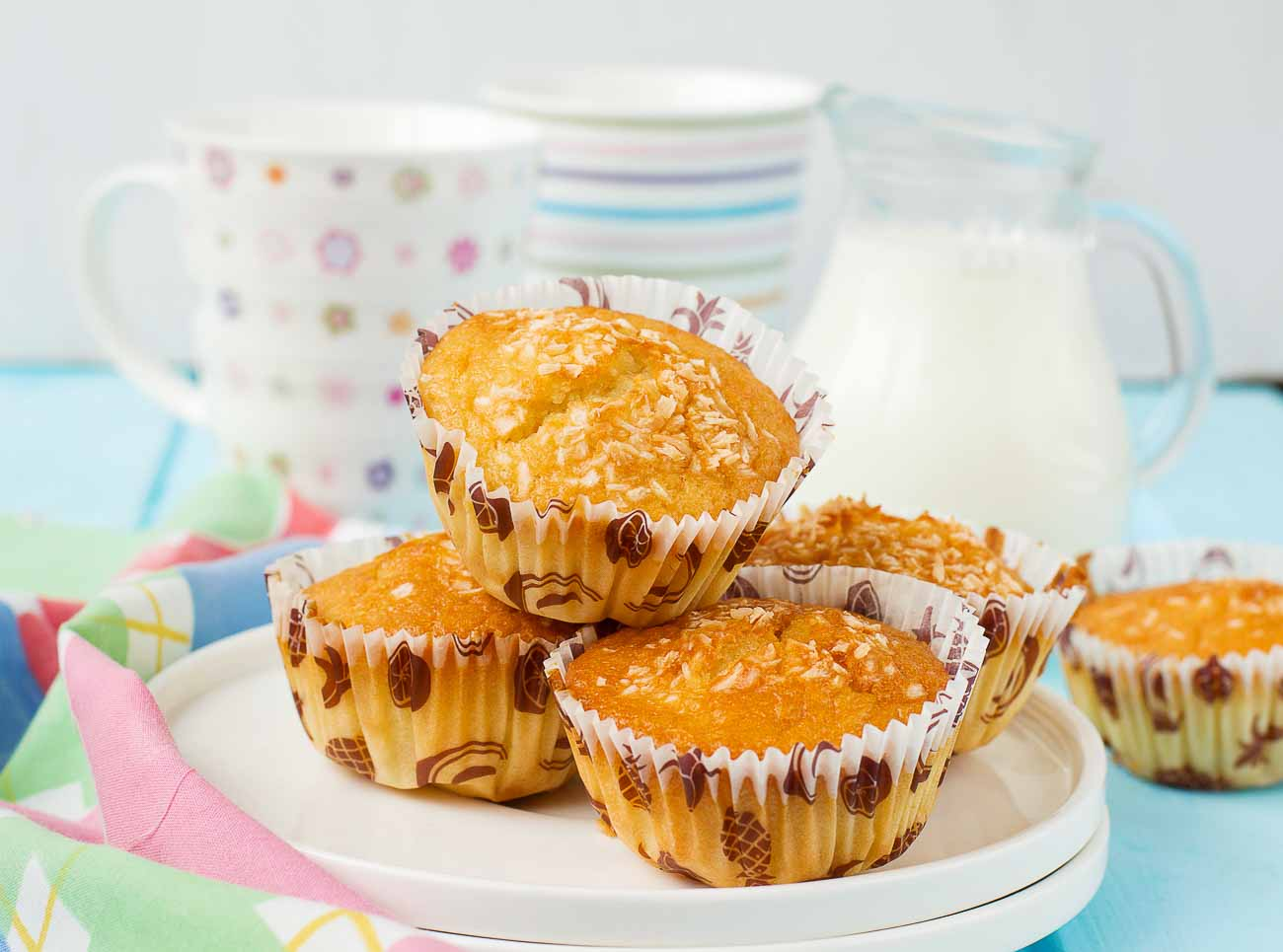 Eggless Whole Wheat Pineapple Muffins Recipe