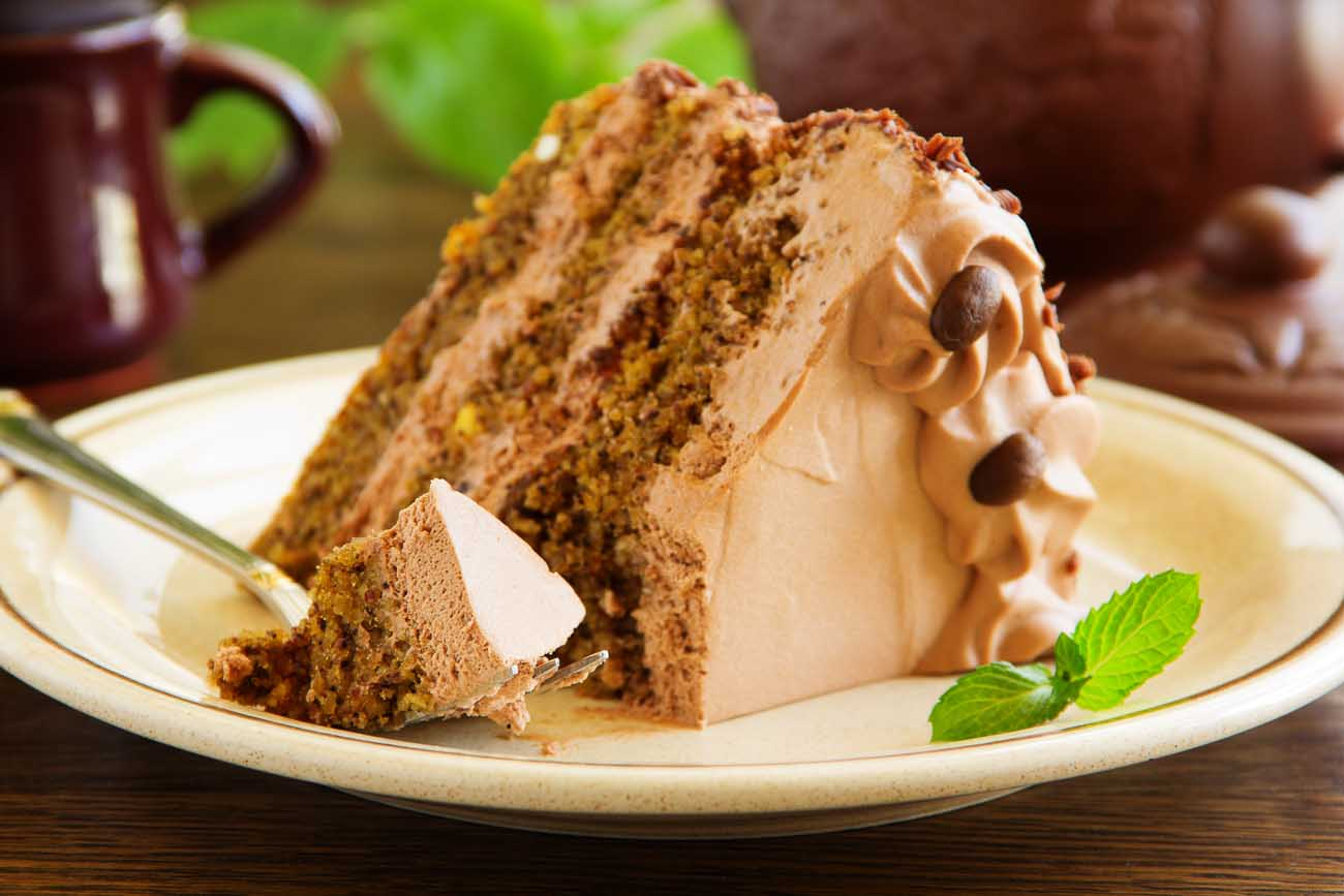 Chocolate Coffee Cake Recipe with Chocolate Buttercream Frosting
