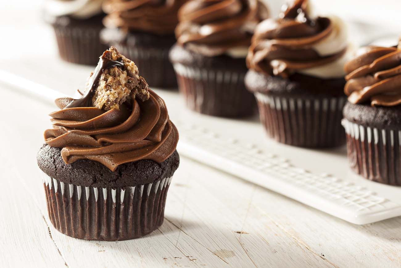 Chocolate Cup Cakes with Irish Cream Frosting