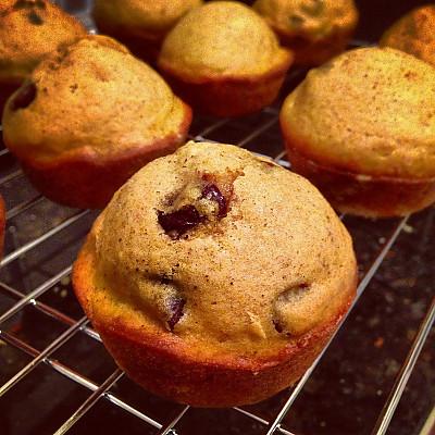 Spiced Pumpkin Oatmeal Muffin Recipe With Chocolate Ganache