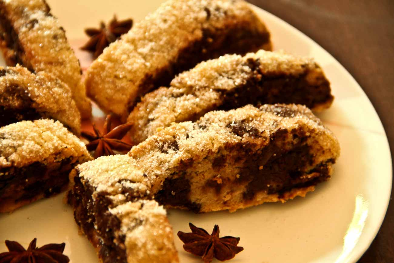 Dark Chocolate and Star Anise Biscotti Recipe